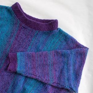 VINT 1980 FUNKY Sweater Artsy collar & poncho arms